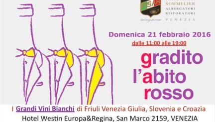 roncsoreli a gradito abito rosso vini friulani a venezia